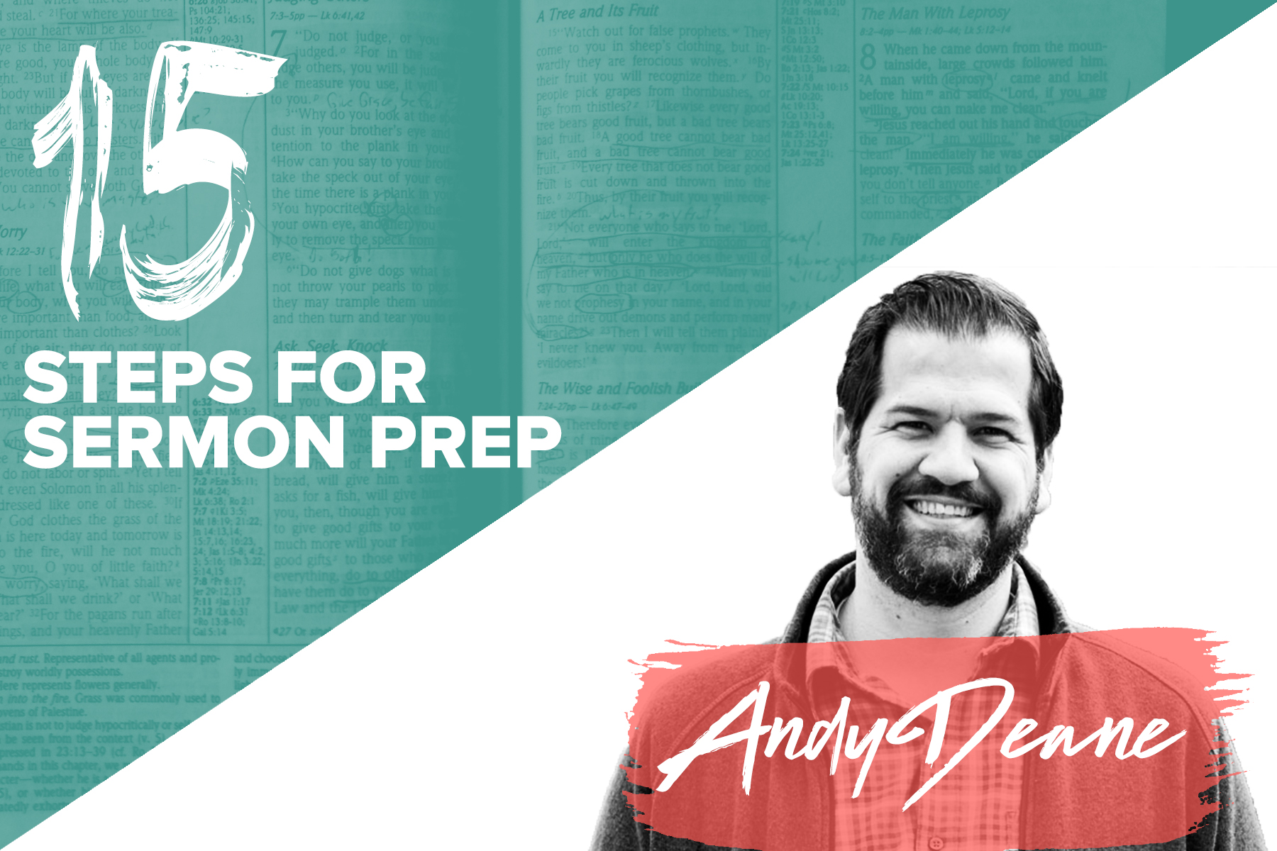 15 STEPS FOR SERMON PREP BY ANDY DEANE | YWC 2019
